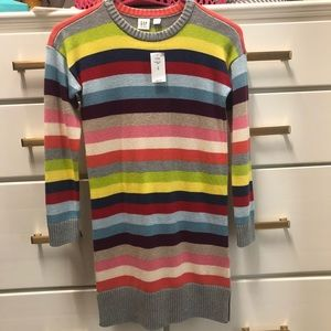 Gap Multi-color striped sweater dress NWT 💜💛💙💚